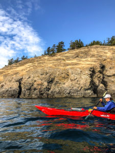 Sea kayaking from San Juan Island