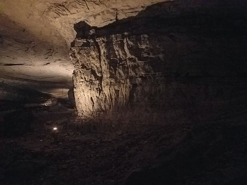 Inside the darkness of Mammoth Cave National Park in Kentucky