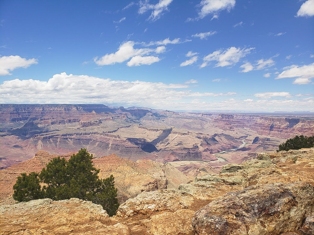 Blue skies over the Grand Canyon in Arizona