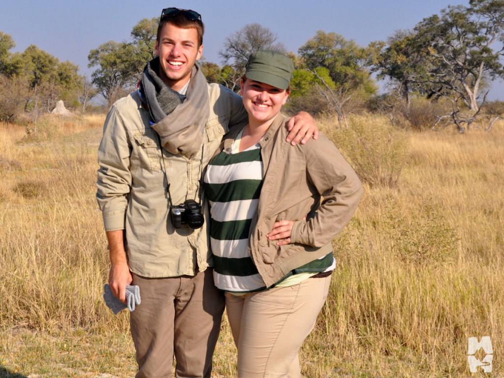 Two friends on an African safari